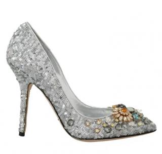 Dolce & Gabbana Sequin Crystal Embellished Pumps