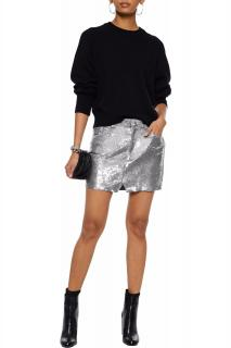 Iro sequin jersey mini skirt
