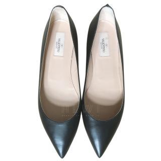 Valentino Rockstud Black Ballet Flats