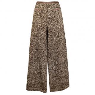 Paule Ka Tweed Wide Leg Pants