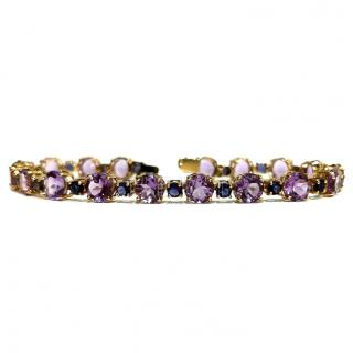 Bespoke Amythest & Tanzanite Yellow Gold Bracelet