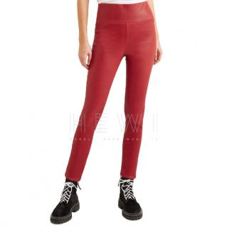 Sprwmn Red Leather Leggings
