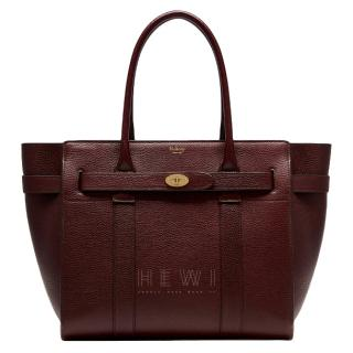 Mulberry Large Zipped Bayswater Tote in Oxblood