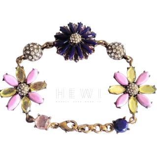 Bespoke Floral Crystal Bracelet