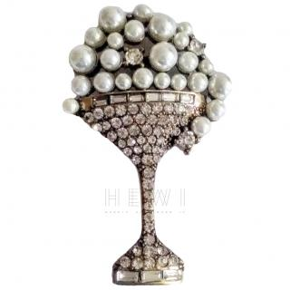 Bespoke Crystal Champagne Glass Brooch