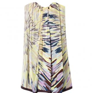 Missoni Strapless Printed Mini Dress
