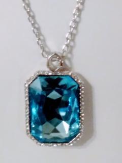 Bespoke Blue Crystal Pendant Necklace