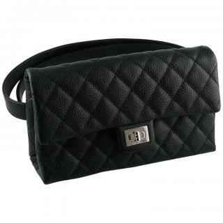Chanel Uniform Caviar Leather Mini 2.55 Belt Bag