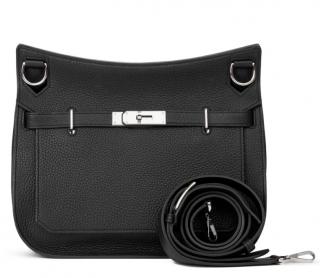 Hermes Black Clemence Leather 29cm Jypsiere Bag