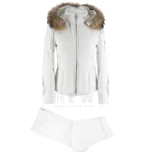 Bogner White Down Padded Ski Suit