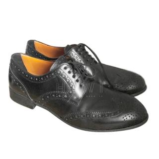 Dolce & Gabbana Black Dovetail Derby Brogues