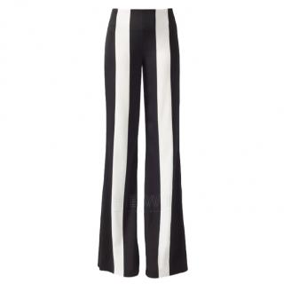 Galvan Black & White Striped Marlene Trousers