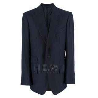 Tom Ford Navy Blue Cashmere Single Breasted Jacket