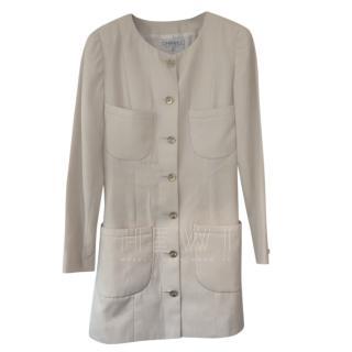 Chanel Vintage Cream Longline Jacket
