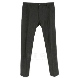 Lanvin Dark Grey Wool Men's Trousers