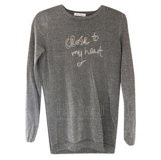 Bella Freud Metallic Knit Intarsia Sweater