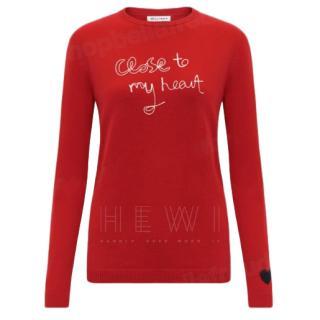 Bella Freud Red Wool & Cashmere Red Jumper