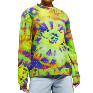 MSGM Tie Dye Print Sweatshirt