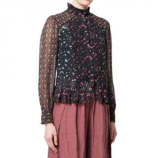 Masscob floral silk blouse