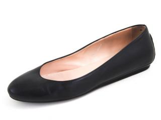 Tod's Black Leather Ballerina Flats
