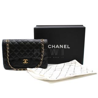 Chanel Black Caviar Leather Jumbo Double Flap Bag