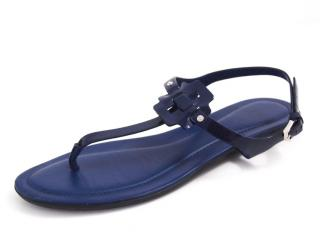 Tod's Blue Leather Thong Sandals