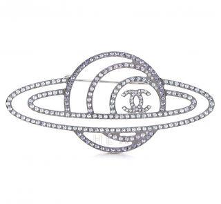 Chanel Crystal Planet Brooch
