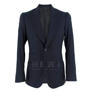 Gucci Navy Tailored Wool Blazer