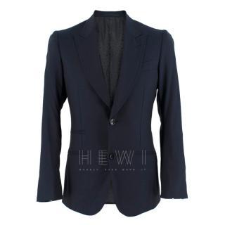 Gucci Navy Tailored Wool Blazer