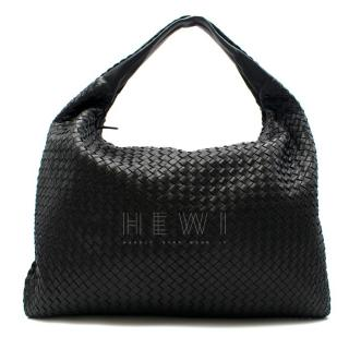 Bottega Veneta Black Large Intrecciato Hobo Bag