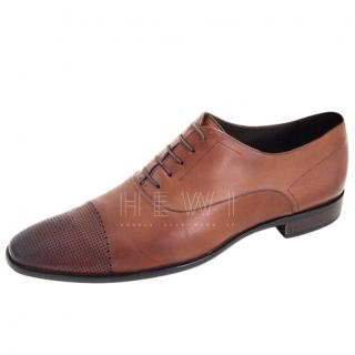 Hugo Boss Brown Leather Oxford Loafers