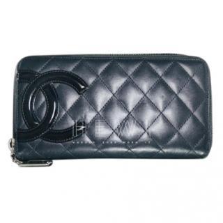 Chanel Cambon Ligne Long Bitfold Flap Yen Wallet