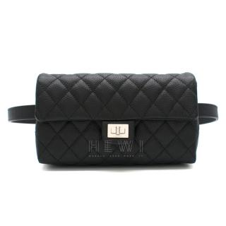 Chanel Uniform Caviar Leather Black Belt Bag