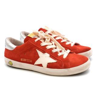 Golden Goose Red Superstar Sneakers
