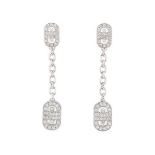 Bvlgari Diamond Chain Drop White Gold Earrings