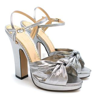 Charlotte Olympia Silver Farrah Sandals