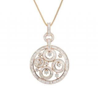 Bespoke Rose Gold Diamond Pendant Necklace