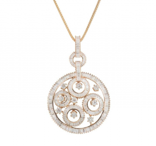 Bespoke Rose Gold Diamond Pendant Necklace