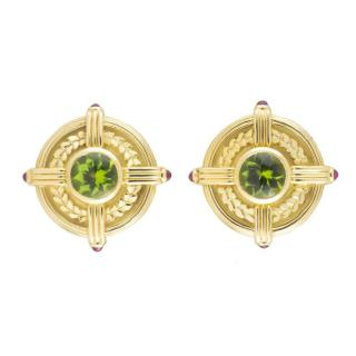 Theo Fennell Yellow Gold Earrings W/ Precious Stones