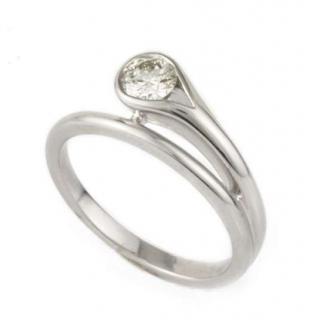 Bespoke 18k White Gold Diamond Twist Dress Ring