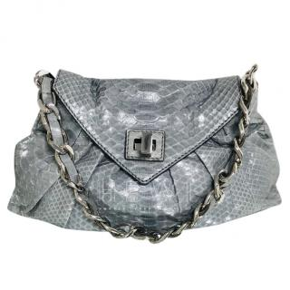Zagliani Grey Python Tote Bag