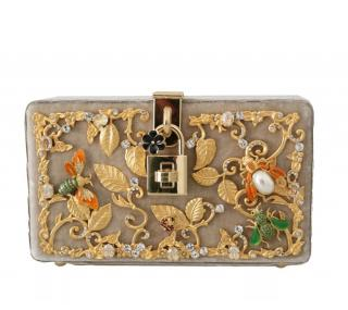 Dolce & Gabbana limited edition embellished nude box bag