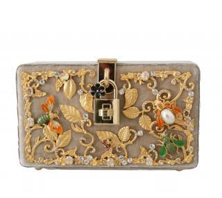 Dolce & Gabbana limited edition embellished nude box bag