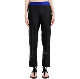 La Perla Contrast Waistband Silk Twill Trousers