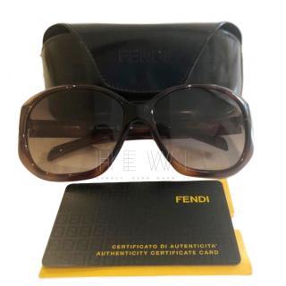 Fendi Oversize Tortoiseshell Sunglasses