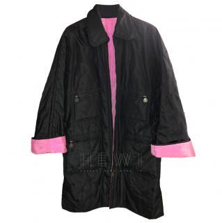 Chanel Black & Pink Reversible Puffer Coat