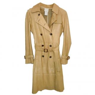 Celine Camel Calf Leather Trench Coat