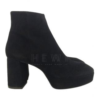 Bimba Y Lola black suede ankle boots