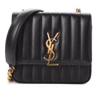 Saint Laurent  Lambskin Matelasse Vicky Chain Bag