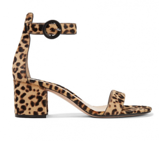 Gianvito Rossi Versilia 60 leopard-print calf hair sandals